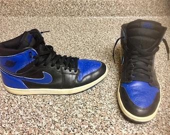 Vintage Nike Jordan Royal 1 Sneakers Sz 11 jordans cdp dmp fragments 10 12 x xi xii sb dunk space jam jersey penny 10.5 11.5 1's ones breds