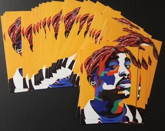 Chang3d Man sticker by Vakseen - 2Pac Art - 2Pac Sticker - Hip Hop Art - Skateboard Stickers - Music Art Stickers - Music gift idea