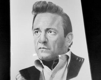 Johnny Cash pencil drawing