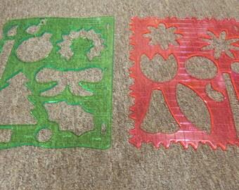 6 FISKARS stencils for scrapbooking & paper crafts