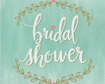 It Was Mint To Be bridal Shower Napkins  / bridal shower / Wedding / Mint and Gold Bridal Shower
