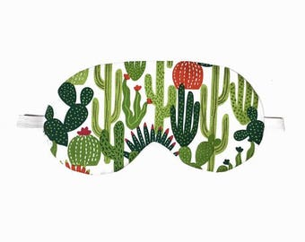 Cactus Eye Mask, Cactus Sleep Mask, Cacti Eye Mask, Cacti Sleep Mask, Bridesmaid Gift, Bachelorette Gift, Party Favor, Spa eyemask