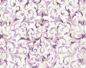 Veranda purple scroll Fabric by Timeless Treasure