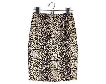 Leopard Print High Waisted Pencil Skirt