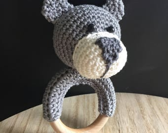 Handmade Rattle Bear