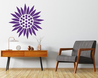 Marigold  Wall Stencil, Wall Art Stencil  in reusable Mylar, wall art, small to large stencils up to 26 inches
