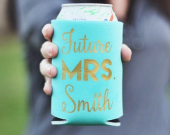 Future Mrs, Engagement Gift, Bride To Be, Can Holder, Soon to be Mrs, Stocking Stuffer for Her