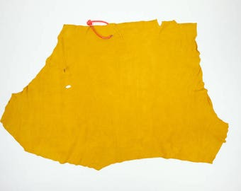 Deer Split Craft Leather Piece Prairie Gold: 2.9 sq feet, Gallery Code 1090