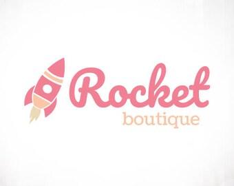 Premade Logo Design • Rocket
