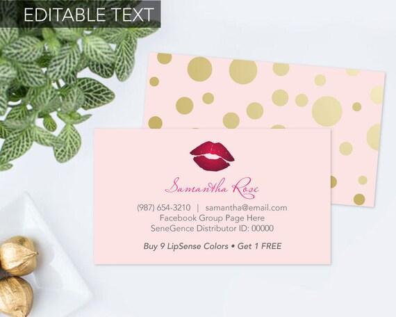 Printable lipsense business card senegence business card editable il570xn fbccfo Images