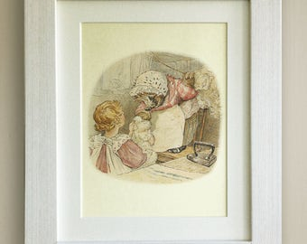 "FRAMED Beatrix Potter Print, New Baby/Birth, Nursery Picture Gift, 3 Frame Options, Lovely Birth/Christening Gift, 10""x8"", Mrs Tiggywinkle"