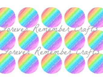 INSTANT DOWNLOAD Rainbow Stars Background  Bottle Cap Image Sheet *Digital Image* 4x6 Sheet With 15 Images