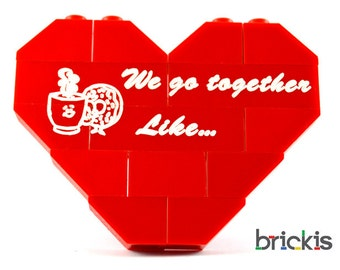 Personalised LEGO® heart for Valentine We go together like ...coffee and donuts