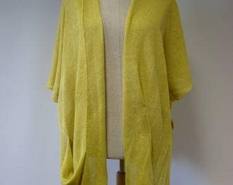 Special price. Summer knitted yellow vest, L/XL size.