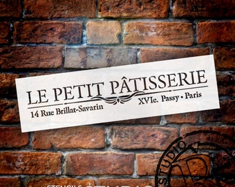 Le Petite Patisserie Word Art Stencil - Select Size - STCL907 - by StudioR12