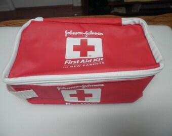 Vintage Johnson&Johnson First Aid Kit bag