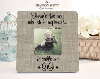 Mothers Day Gift for Gigi Grandma Nana Grandmother Gift Personalized Picture frame, Grandma Frame, Gigi Gift from Grandson, Theres this boy