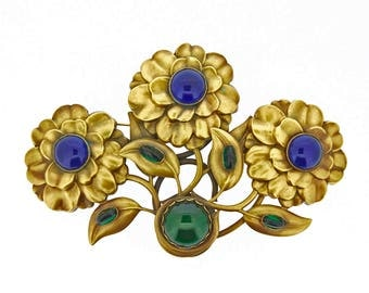 Joseff of Hollywood Floral Brooch