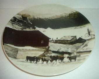 1971 The Kuerner Farm Andrew Wyeth Plate for Georg Jensen