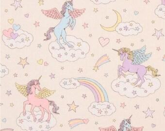 Cosmo Magical Unicorns Cream (Half metre)