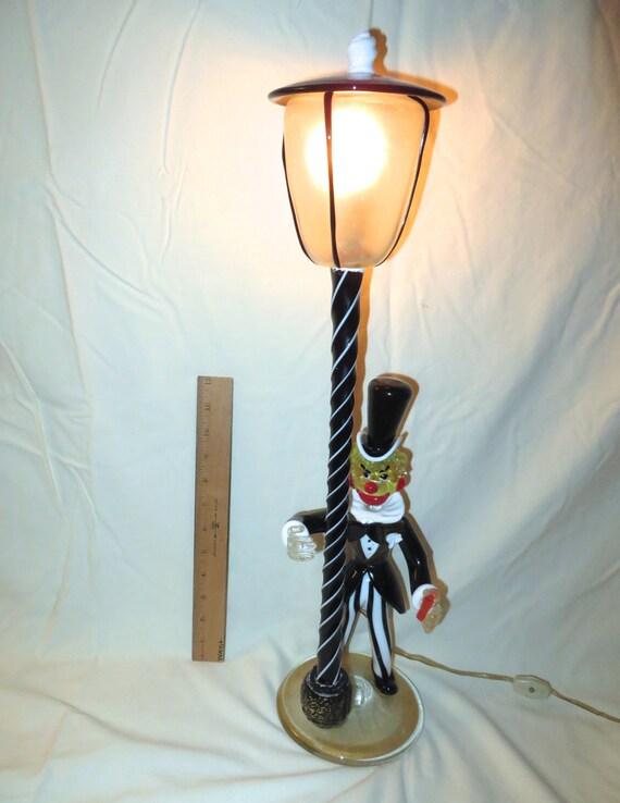 lampe de clown en verre de murano des ann es 40 lampe clown. Black Bedroom Furniture Sets. Home Design Ideas