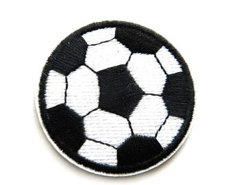 Soccer Ball Embroidered Patch Appliqué