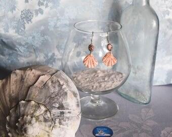 Kitten Paw Earrings with Rhodonite Stones