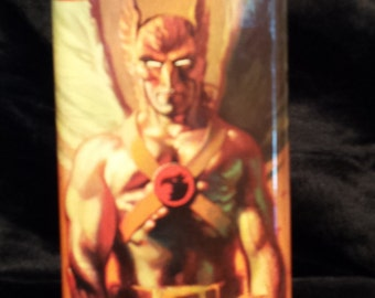 Hawkman 8 oz stainless steel flask
