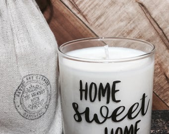 Home Sweet Home Candle / House Warming Gift / New Home Gift / Hostess Gift / House Warming Candle / Moving Gift / Custom Candle