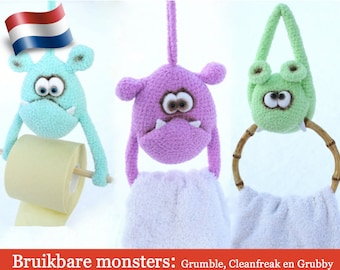 124NLY  Haakpatroon - Bruikbare Monsters - Amigurumi PDF file by Borisenko Etsy