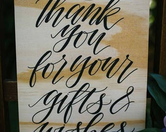 Thank you sign   Gift sign   Short quote sign   Wedding sign   Wedding Décor