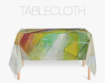 large tablecloths abstract print red and green polyester tablecloth party tablecloth - Polyester Tablecloths