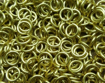 Raw Brass Saw Cut Open JUMP RINGS 6mm ID, 1.5mm wire - 10 grams