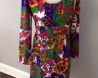 Vintage 60's psychedelic mini dress
