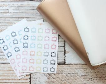 TV Rainbow Stickers - Planner Stickers - Matte