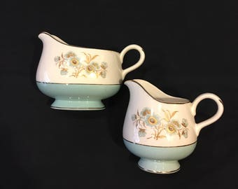 Homer Laughlin Pitcher Pair Creamer Pitcher and Gravy Boat