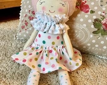 Cloth doll-soft fabric doll handmade