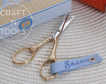 Embroidery Scissors Maison Sajou Gilded Langres Model 021/Sajou Shears/Embroidery Shears/Chenille Scissors/Knitters Scissors
