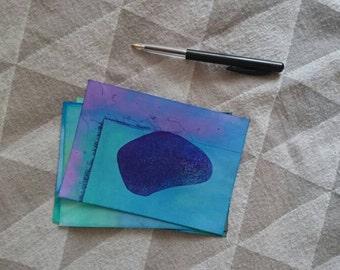 Postcard  handdrawn, zen, gift, card, drawing, art, unique, minimal art, pendrawing