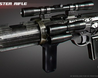 3d model The EE-4 blaster rifle