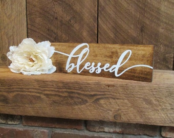 blessed sign, rustic wall decor, rustic Christmas, Christmas sign, Christmas home decor, Christmas decor, blessed, rustic home decor