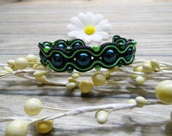 bracelet  / soutache technique / handmade (nr376)