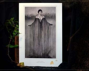 Art + A3 print: Yōkai Ameonna - series limited to 100 copies, prints numbered, stamped and signed