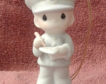 """Vintage Precious Moments Ornament- """"Trust & Obey"""" - Retired 2001"""