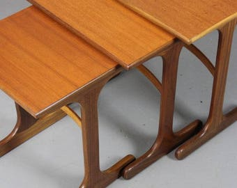 Retro G Plan Nest Side End Tables
