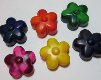 Set of 6 Flower Crayons
