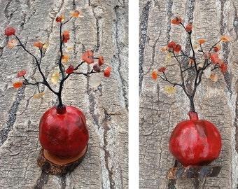 Armenian fertility tree, Armenian good fortune tree, pomegranate tree, video - https://youtu.be/yGyEbN8xQ4w