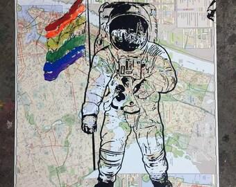 Gay Astronaut - A Piece of NYC Original Street Art on Map