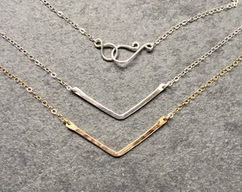 Small Gold V Necklace