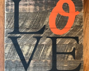 LOVE O's sign // Baseball // Orioles // Maryland // Baltimore // Gifts for Her // Gifts for Him // Wedding // Custom  // Home Sign
